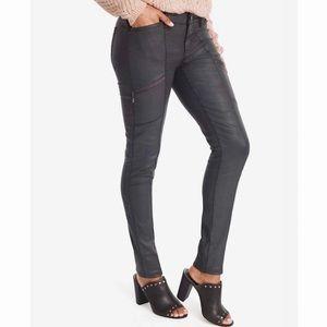 White House Black Market Coated Skinny Jeans GRAY